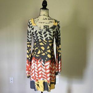 Analili colorful stretch knit tunic dress